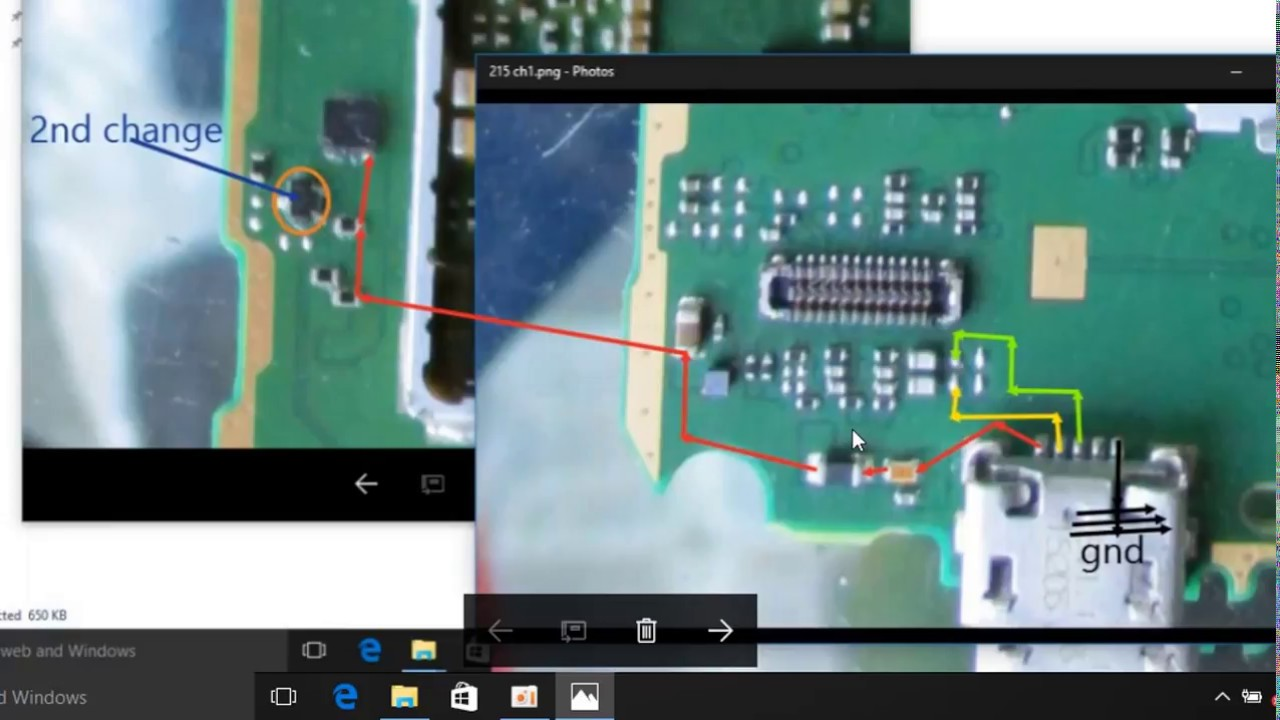 nokia 215/205 usb charging line jumper solution and power key line ...