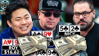 $38,000 Pot in a $5/$5 Game? ♠ Live at the Bike!
