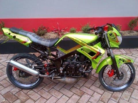 contoh modifikasi motor ninja r warna putih