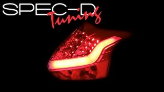 SPECDTUNING DEMO VIDEO: 2012-2014 FORD FOCUS LED NEON TUBE BRAKE LIGHTS