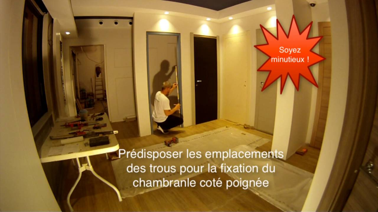 comment poser une porte fin de chantier avec charni res invisibles youtube. Black Bedroom Furniture Sets. Home Design Ideas