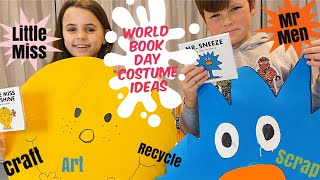 World Book Day fancy dress, costume ideas. Mr Men and Little Miss.