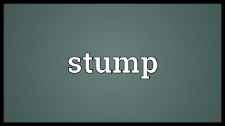 Stump Meaning