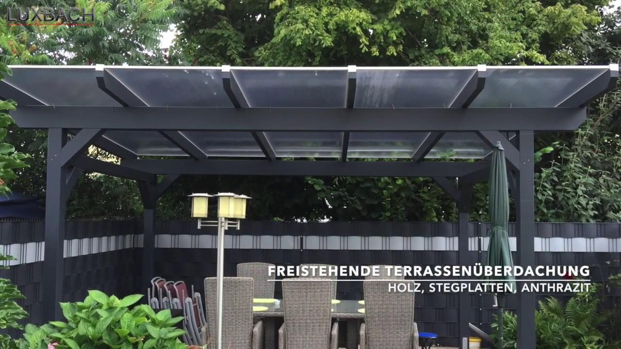 Bevorzugt Terrassenüberdachungen aus Aluminium und Holz mit Stegplatten oder WL33