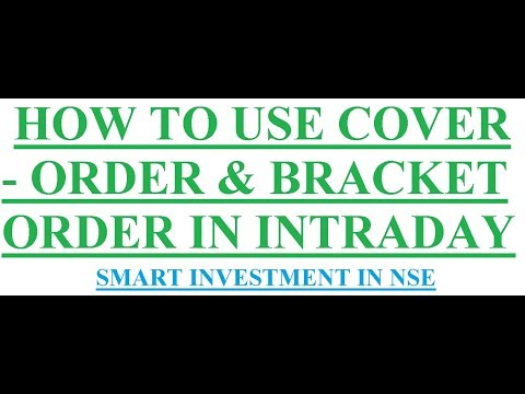 How to use coverorder / bracketorder in zerodha || Smart Investment in NSE