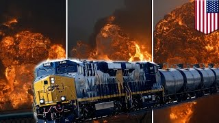 West Virginia CSX oil tanker train derailment causes massive fires and explosions