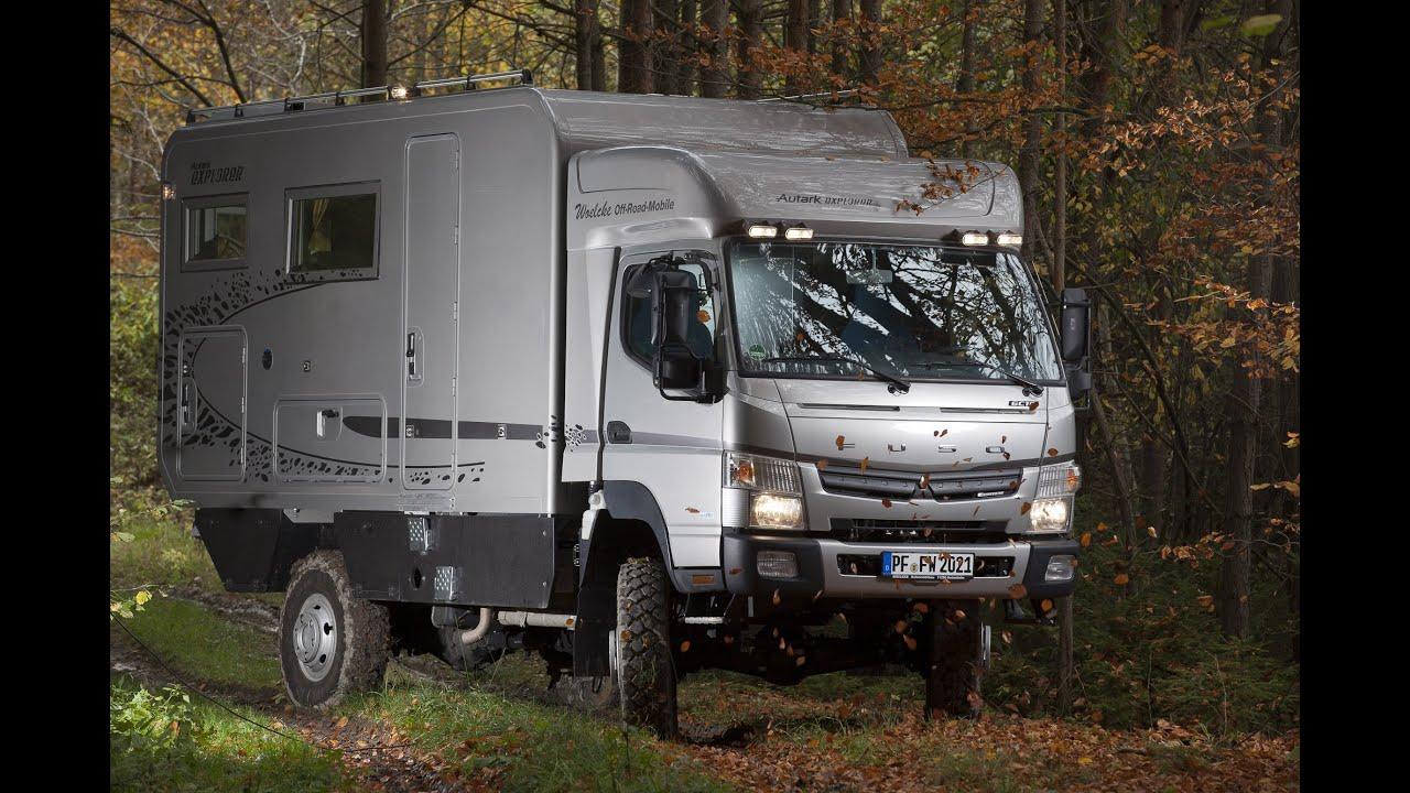 Mitsubishi Fuso Canter Allrad Wohnmobil Woelcke Autark