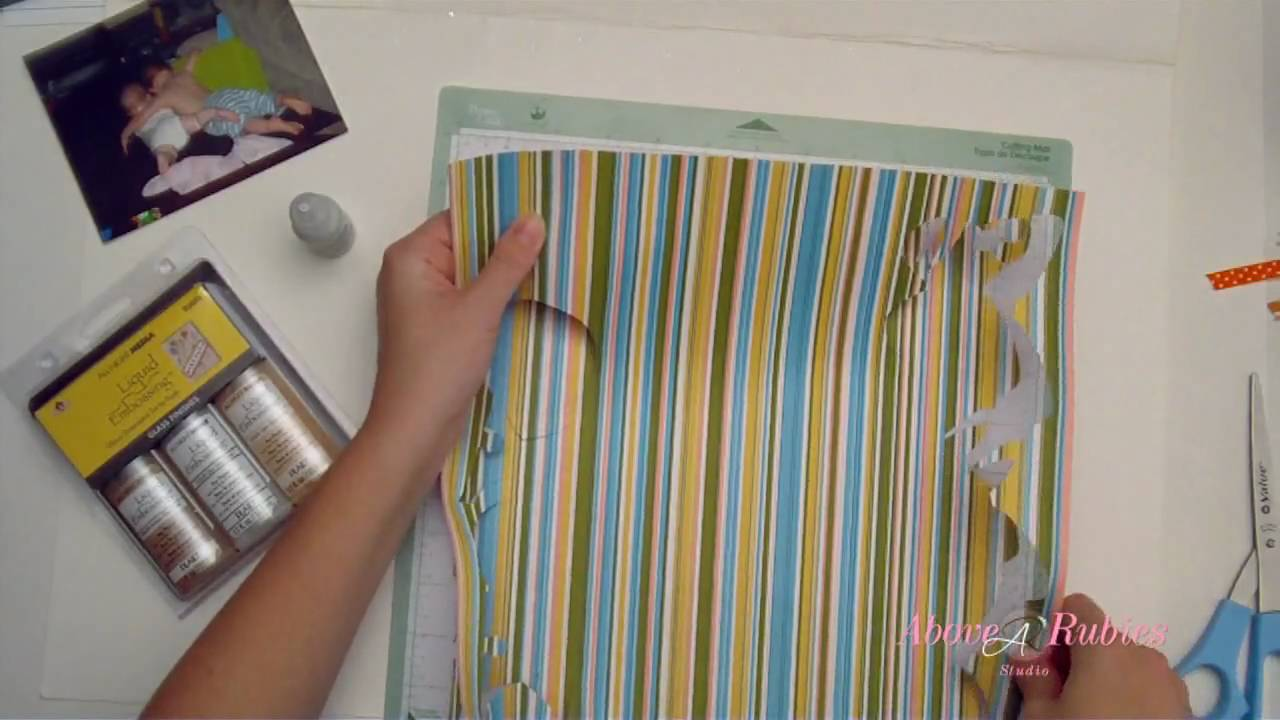 Cricut Borders Using Fit To Length Scrapbooking Layout Youtube