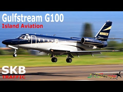 Private Gulfstream G100 arrival and taxi to parking @ St. Kitts Airport