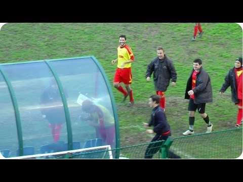 HILARIOUS Soccer (Football) Goal Celebration | Head Butt Costs Player A Red Card