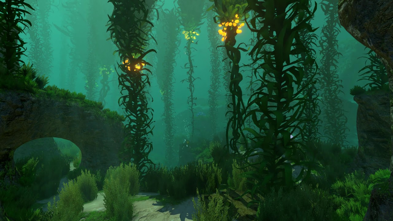 The Glowing Kelp Forest Subnautica Live Wallpaper