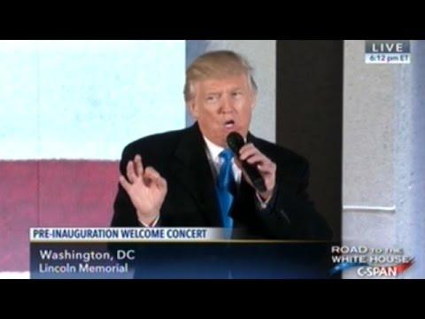Spectacular Fireworks Show Follows Donald Trump Speech At The Lincoln Memorial