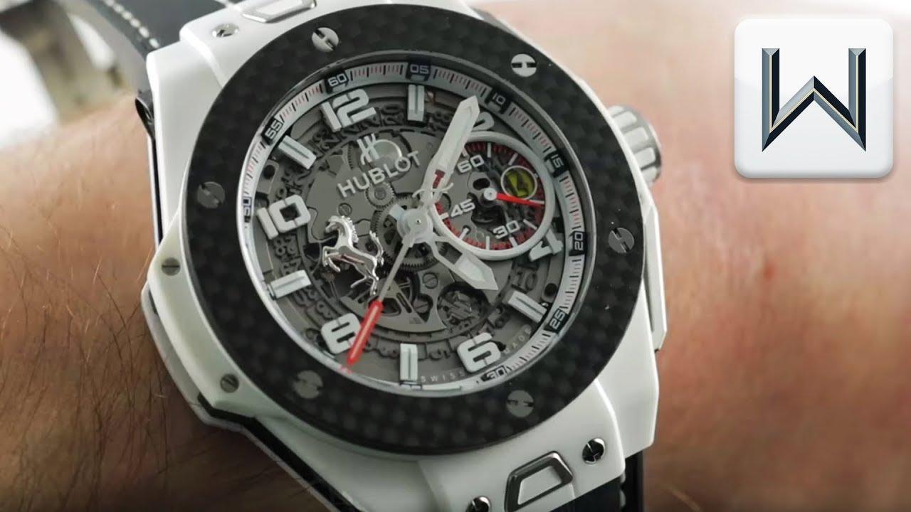 Hublot Big Bang UNICO Ferrari White Ceramic (401.HQ.0121.VR) Luxury Watch  Review