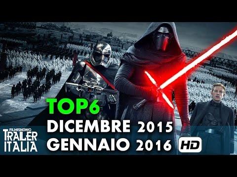 TOP 6 FILM IN USCITA AL CINEMA Dicembre 2015 - Gennaio 2016 [HD]