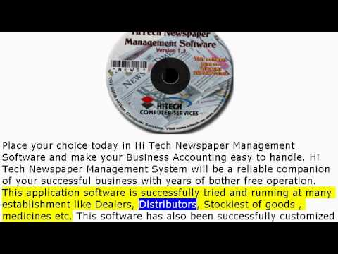 Hi Tech Newspaper Management Software, Accounting Software for Newspapers, Magazines