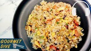 香腸菇菇蛋炒飯/Sausage Mushroom Fried Rice/キノコ ウインナーチャーハン | The Sound Of Food