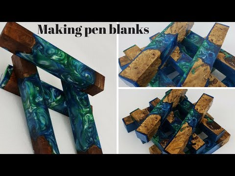 Oak, Elm and resin pen blanks
