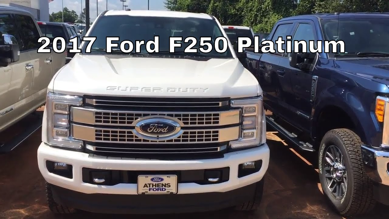 2017 Ford F 250 Super Duty Platinum Stroke Walk Around And Look Inside