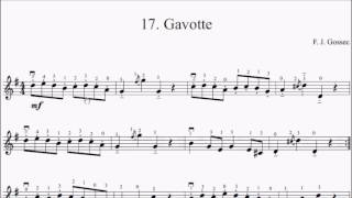 Suzuki Violin Book 1 No.17 Gossec Gavotte Sheet Music