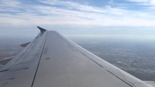 hd united airlines airbus a319 washington iad to chicago ord takeoff wing view slats and flaps