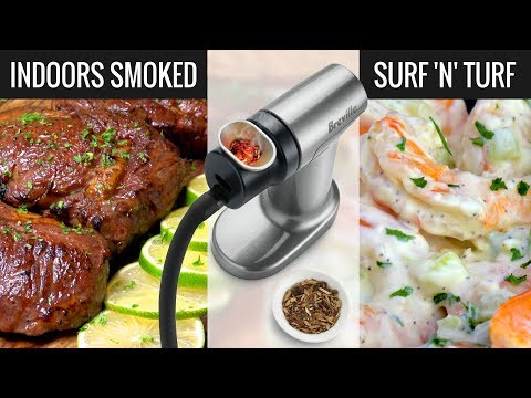 Indoor Smoked RibEye Steak! Sous Vide Surf and Turf Perfection!