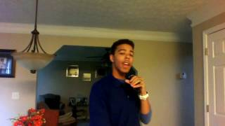 "Jalen doing a cover ""insanity"" (Gregory Porter)"
