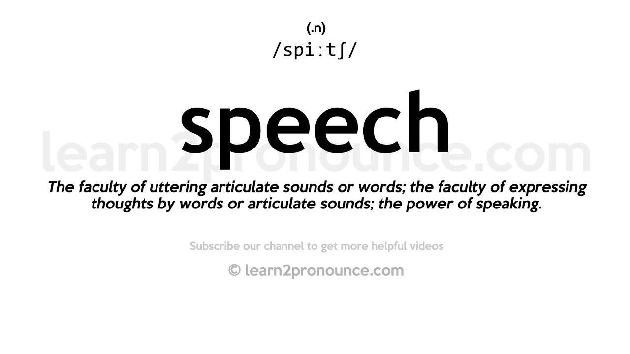 How to pronounce Speech  English pronunciation
