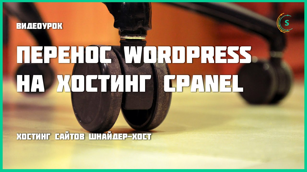 Шнайдер-хост — Перенос Wordpress на хостинг cPanel