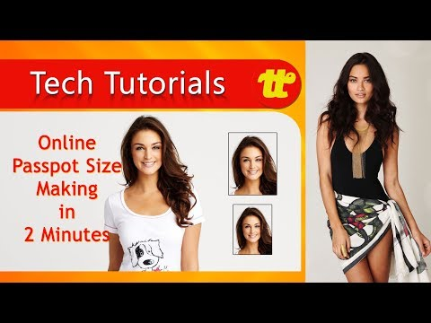 How to Make Passport size photo online With out any editing Software | Photoshop Tutor