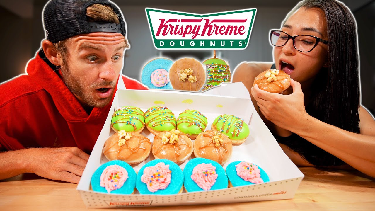 Eating Krispy Kreme Carnival Donuts! (Limited Edition)