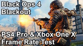 Call of Duty Black Ops 4 Blackout PS4 Pro and Xbox One X Frame Rate Test