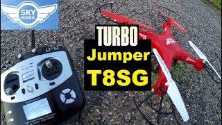 Sky Rider Falcon Pro RANGE HACK JUMPER T8SG Quadcopter RC DRONE FLIGHT REVIEW TEST