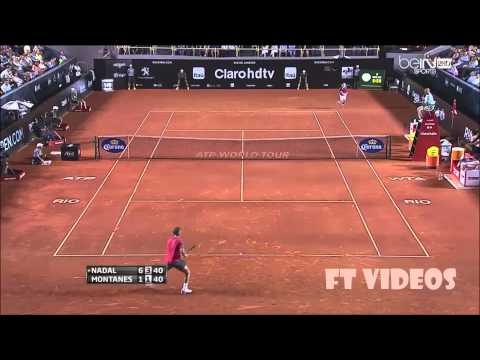Rafael Nadal x Albert Montanes Rio Open 2014 R2 HIGHLIGHTS HD