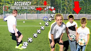 My fan beat me!? | ACCURACY FOOTBALL CHALLENGE