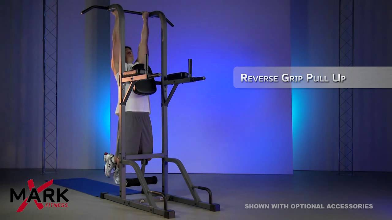 947588a3dc XMark Pull Up Dip Station Power Tower - P90X Workout - XM-4432 - YouTube
