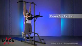 XMark Pull Up Dip Station Power Tower - P90X  Workout - XM-4432