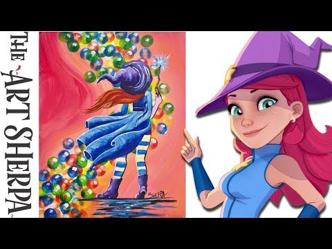 How To Paint Stella from Bubble Witch Saga 3 beginner Acrylic painting tutorial