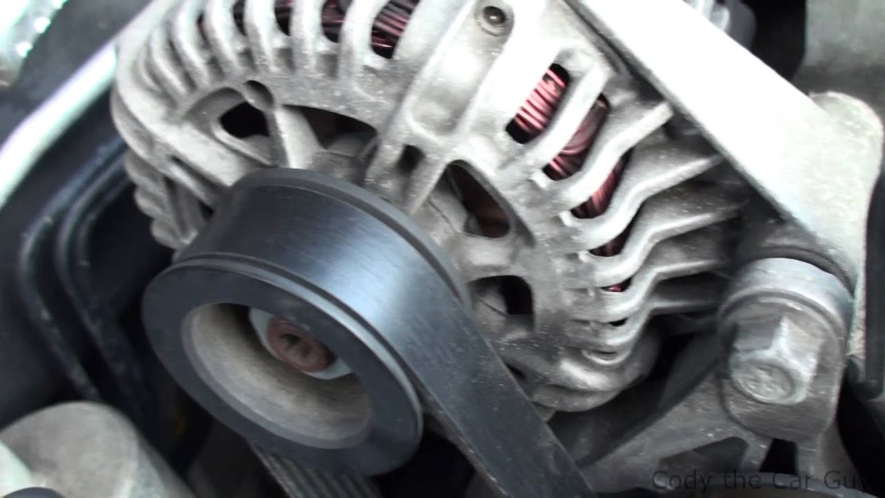 Changing The Serpentine Belt On Chevy Malibu 35 Youtube Gm 3500 Engine Diagram