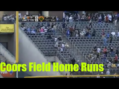 MLB Coors Field Homeruns