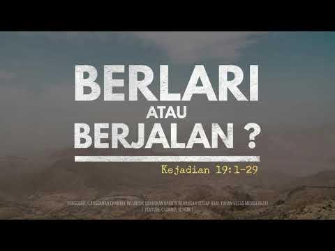 BERLARI ATAU BERJALAN ?| RENUNGAN KHOTBAH KRISTEN