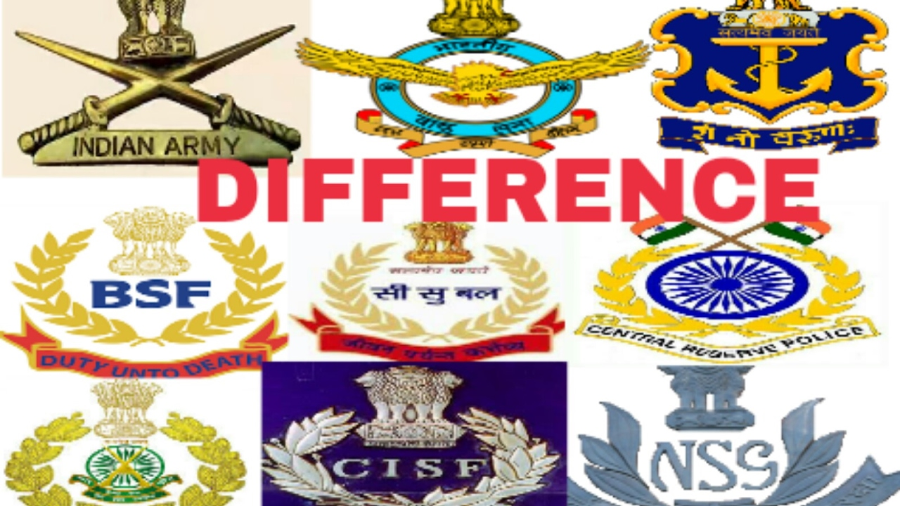 How Many Difference Between Indian Armes Force Paramilitary Force