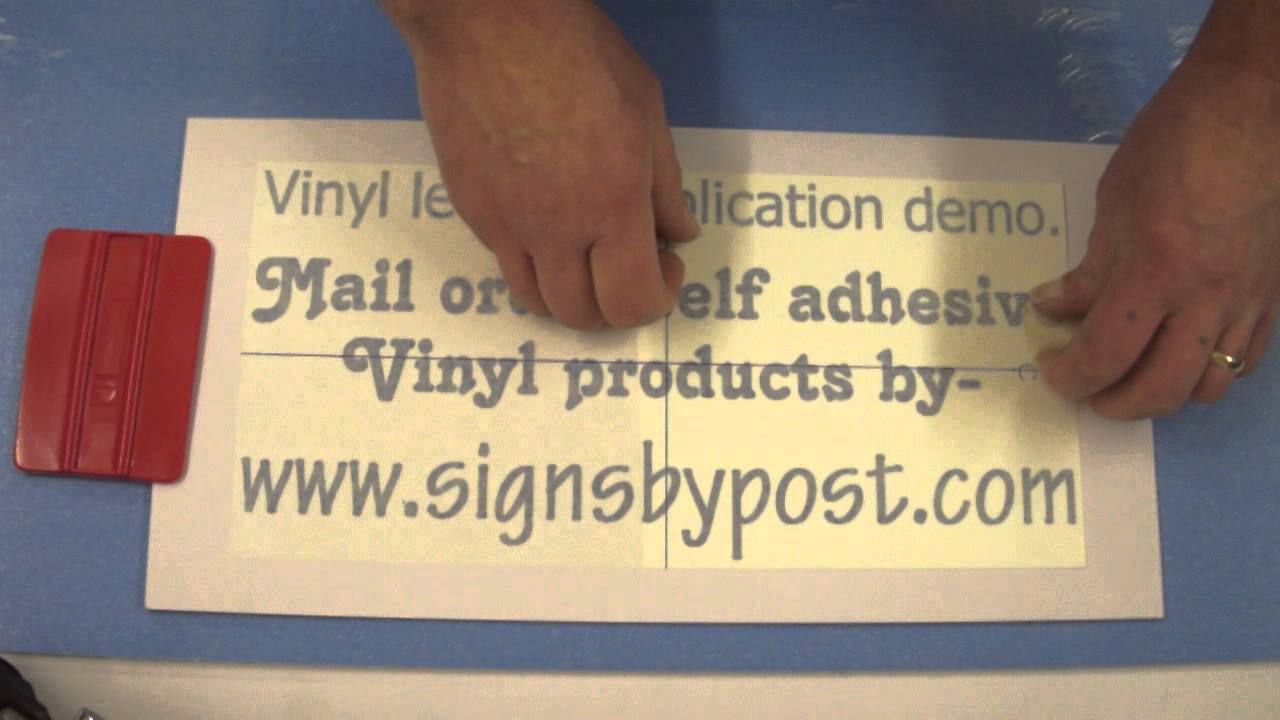 how to apply vinyl letters demonstration