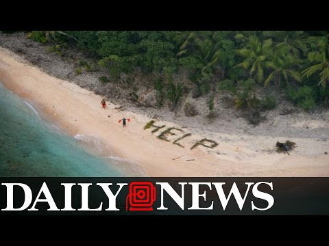 Shipwrecked Sailors Are Rescued Off A Pacific Island After Spelling The Word 'Help'