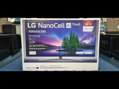 LG 49NANO866 Unboxing, Setup and 4K HDR Demos, LG 2020 Nanocell 86 Series