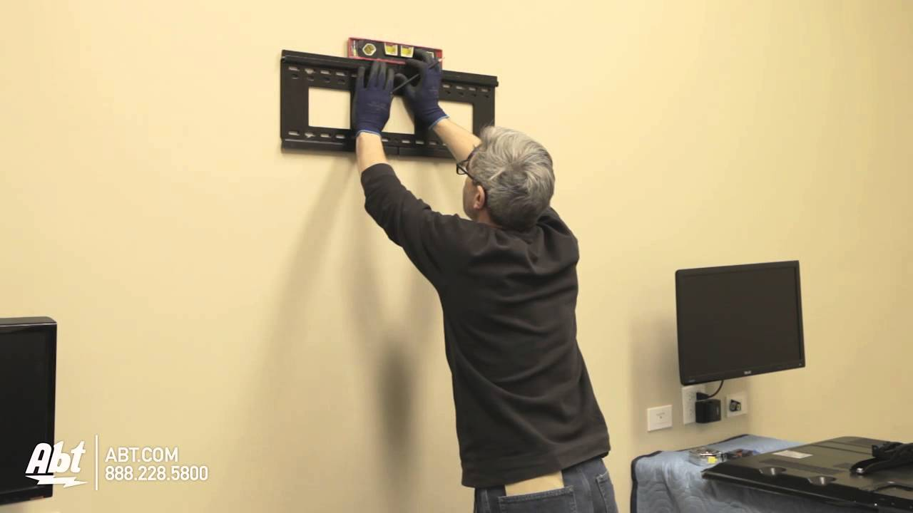How To Wall Mount A Tv Led Lcd Abt Electronics Youtube