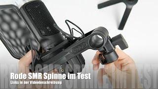Review: Rode SMR Mikrofonhalterung Spinne mit Popschutz mit Rode NT-USB im Test