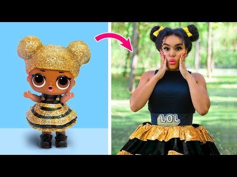 LOL Surprise Dolls In Real Life / 10 LOL Surprise Hairstyle And Clothes Ideas thumbnail