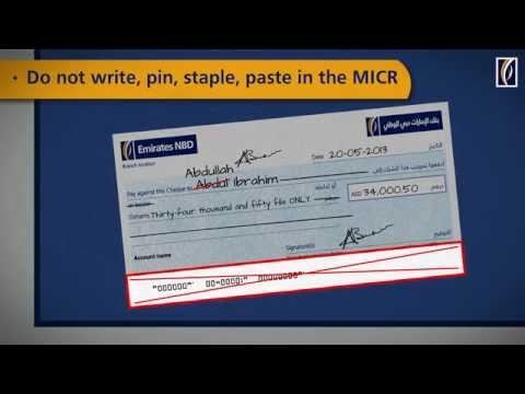 Do's and Don'ts for Writing Cheques  الطريقة الصحيحة لكتابة الشيكات