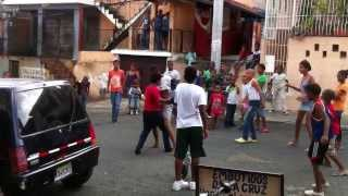 Street Boxing, kids in Dominican Republic