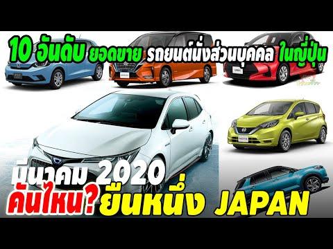 10 อันดับ ยอดขายรถยนต์นั่งส่วนบุคคล มีนาคม 2020 ในญี่ปุ่น Toyota Honda Nissan รุ่นไหนขายดี?